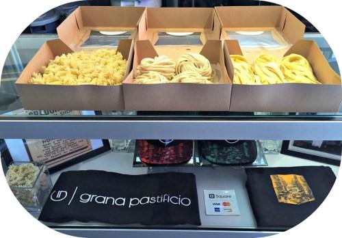 A few of the many pastas at Grana Pastificio.