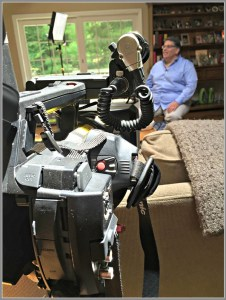 The camera crew, inside the Rutters' house.