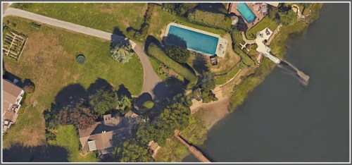 Bruce Kasanoff wasn't kidding. That's one giant swimming pool!