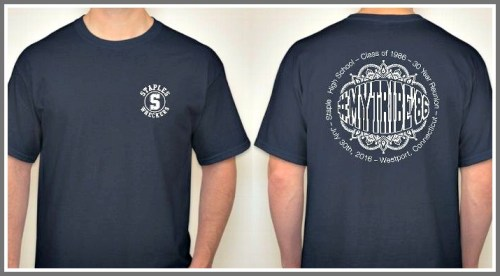 The Class of 1986 #mytribe t-shirts.