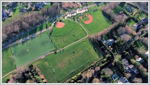 Wakeman athletic fields - Pogue drone