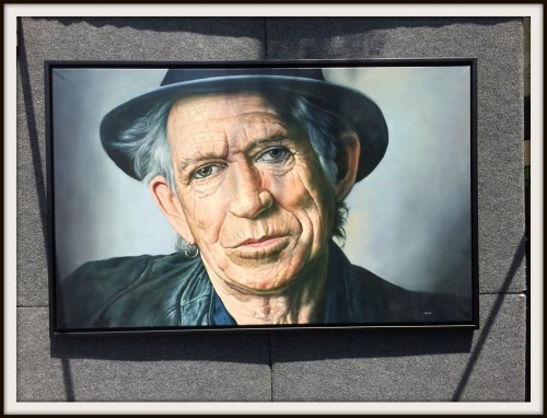Keith Richards was at the arts festival -- well, at least, his portrait was. The artist -- from the Catskills -- hopes the real Stone will roll by.
