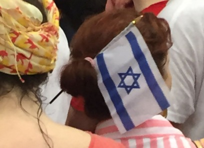 A Donald Trump -- and Israel -- supporter. (Photo/JP Vellotti)