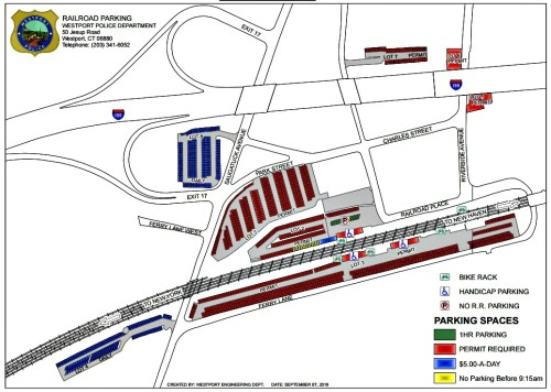 Click on or hover over to enlarge this railroad station parking map.