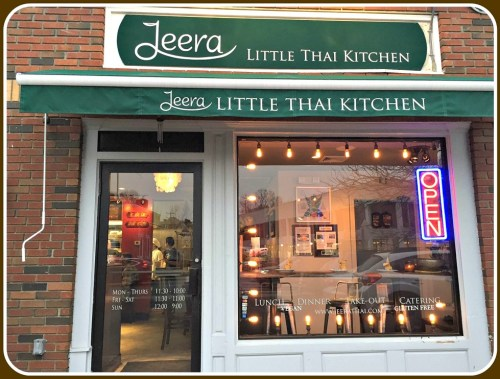 Jeera Thai, nestled in a small space off the Post Road.