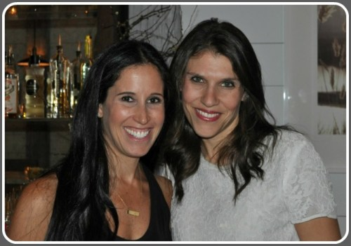 Megan Rutstein and Melissa Post enjoy a WestportMoms event, at The Cottage.