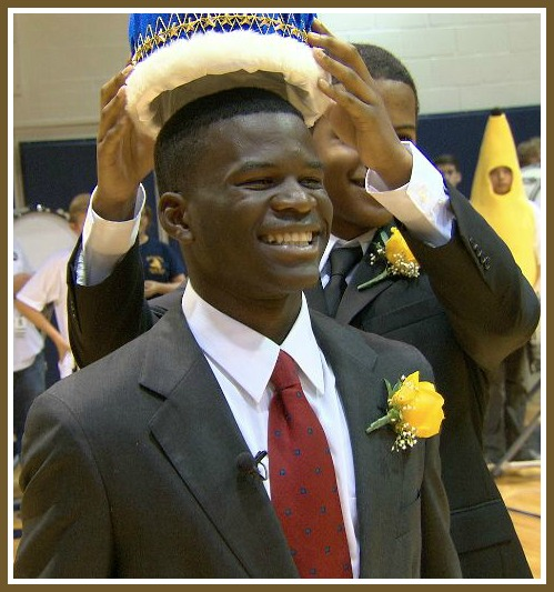 Clement Mubungira is crowned Homecoming King.