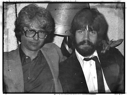 Larry Coryell (left) and Brian Keane in Europe, 1982.