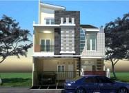 Desain Rumah Minimali 3 Lantai Modern
