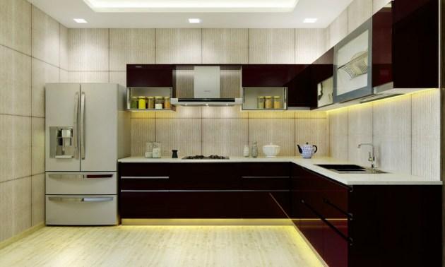 Inspirasi Desain Dapur Minimalis Bentuk L Konsep India