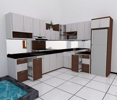 Model Kitchen Set Minimalis Elegan