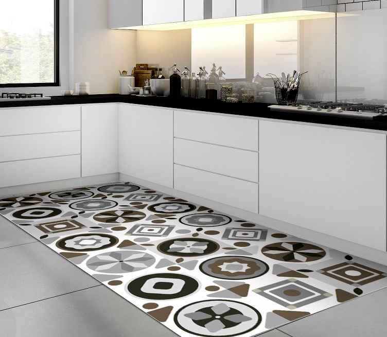 Motif Keramik Dapur Circle dan Square