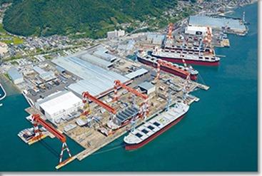 今治造船広島工場になった幸陽ドック