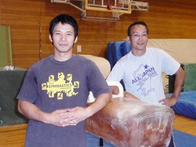 田頭剛選手(左)と濱田佳宏選手(右)