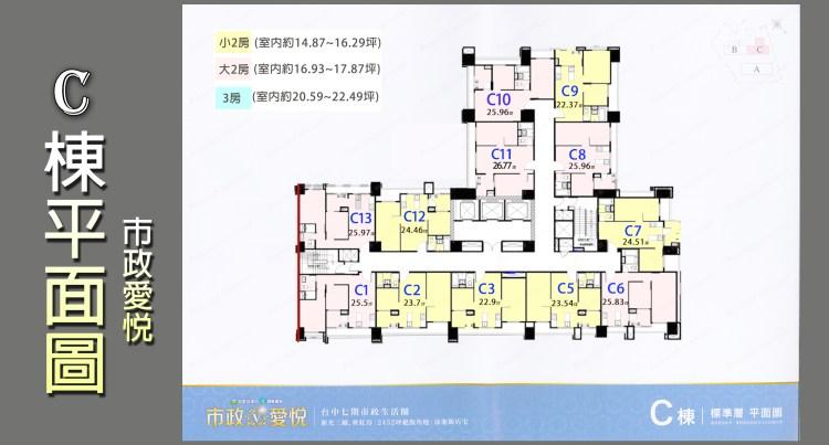 市政愛悅-C棟別圖(格局圖) 佩君0908364505
