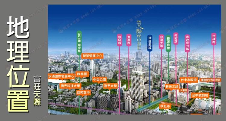 富旺天際W ONE社區 介紹 地理位置 佩君0908-364-505