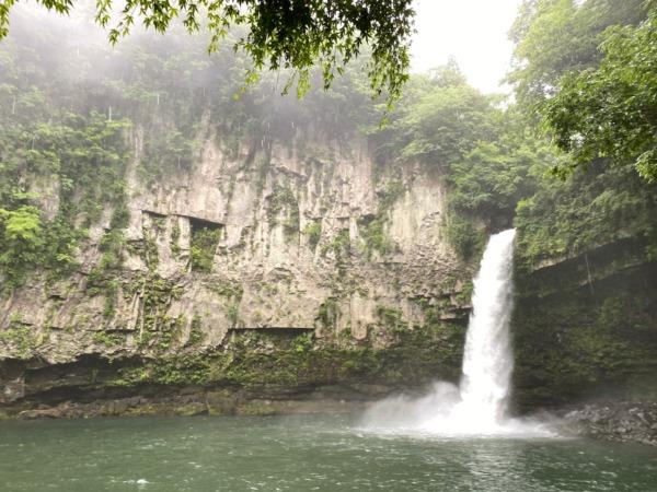 五ヶ瀬のうのこの滝の看板きれいですよ