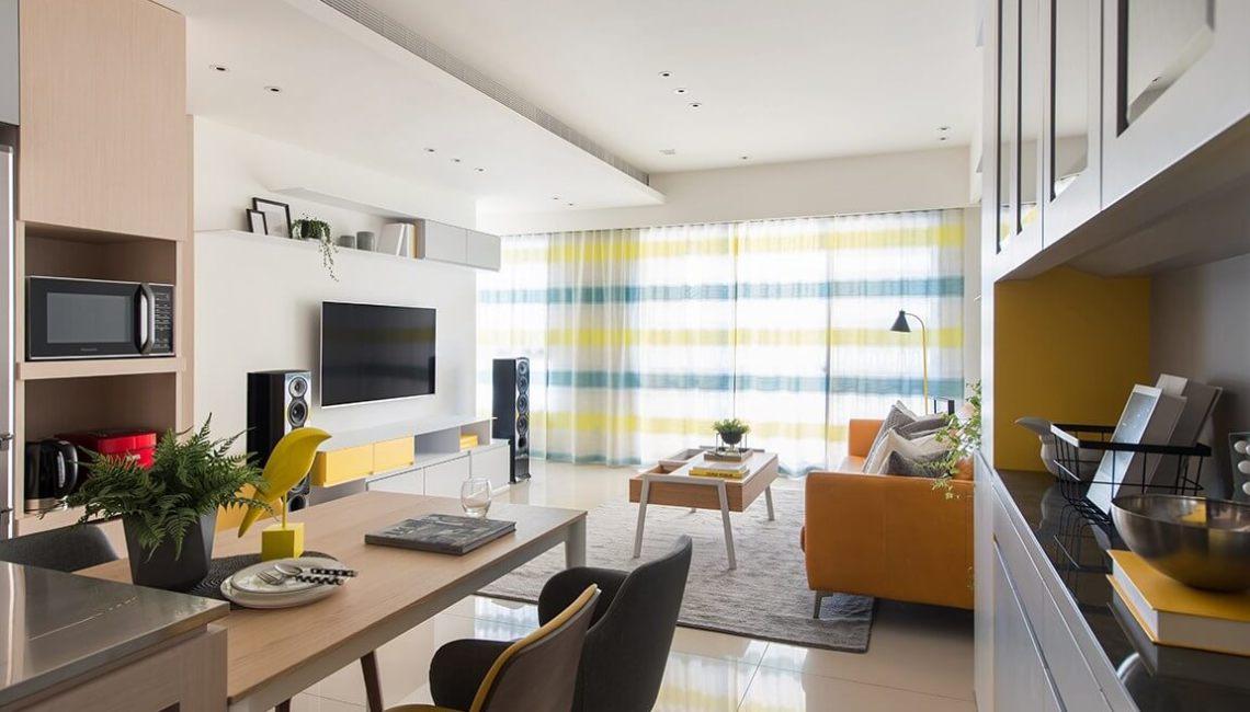 進口窗簾傢飾布 客廳窗簾蛇簾規劃案例