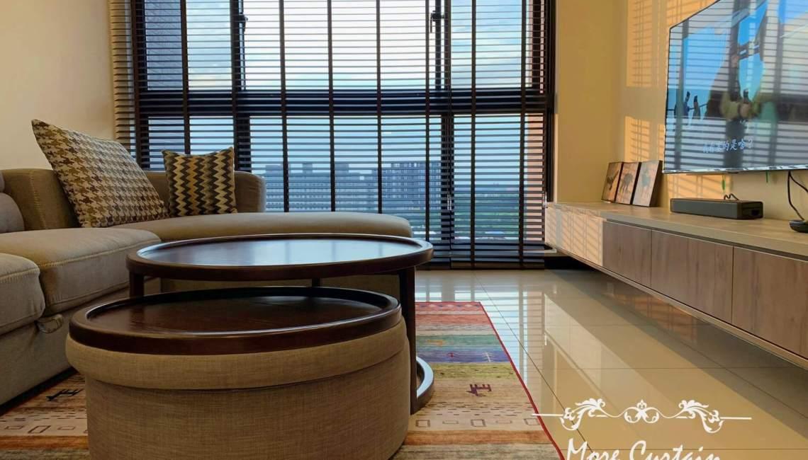 頭份窗簾店 coulisse荷蘭木百葉 細緻紗簾 新家裝潢設計窗簾施工案例