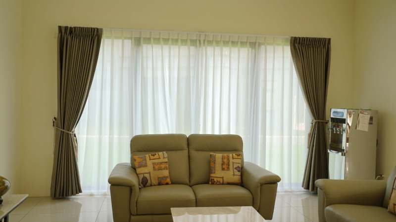 全遮光窗簾 細緻紗簾 落地窗簾設計