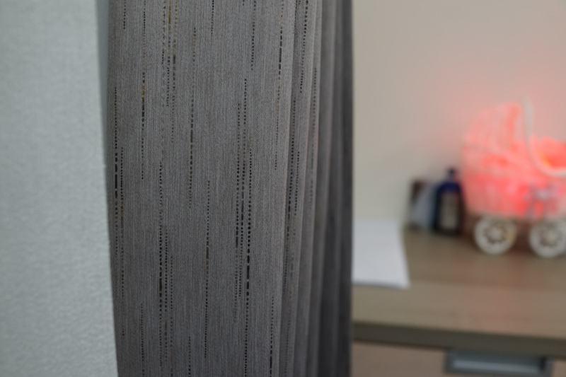 條紋窗簾 三明治遮光布簾