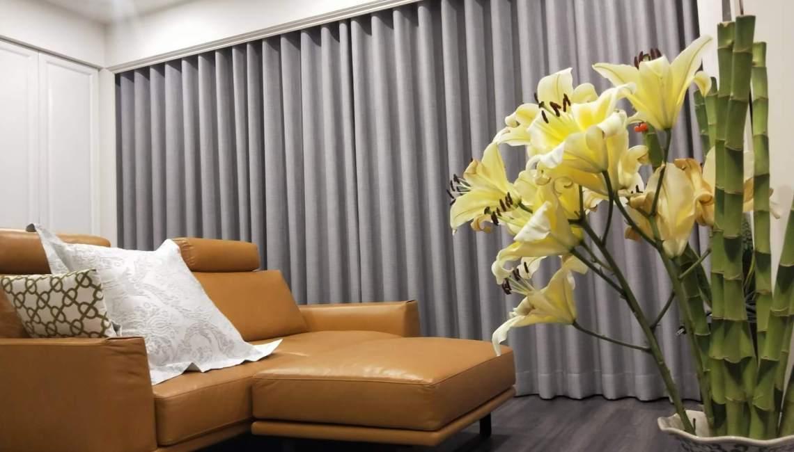 台中市 北屯區 窗簾推薦 蛇簾精選案例 客廳窗簾