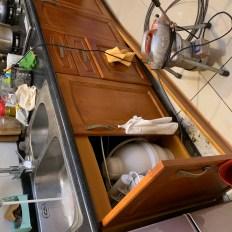 阿威通管行 廚房流理台不通積水