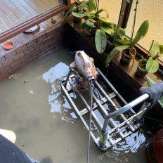 阿威通管行 陽台總管冒水