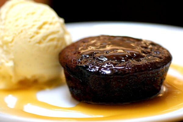 Sticky Date Toffee Pudding with Vanilla Bean Ice Cream