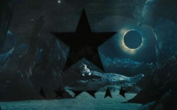 A frame from the Black Star video