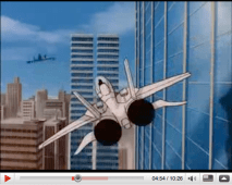 At one point the jet lands in a skyscraper, it isn't directed in such a way as to reveal if it is in fact landing in the WTC.