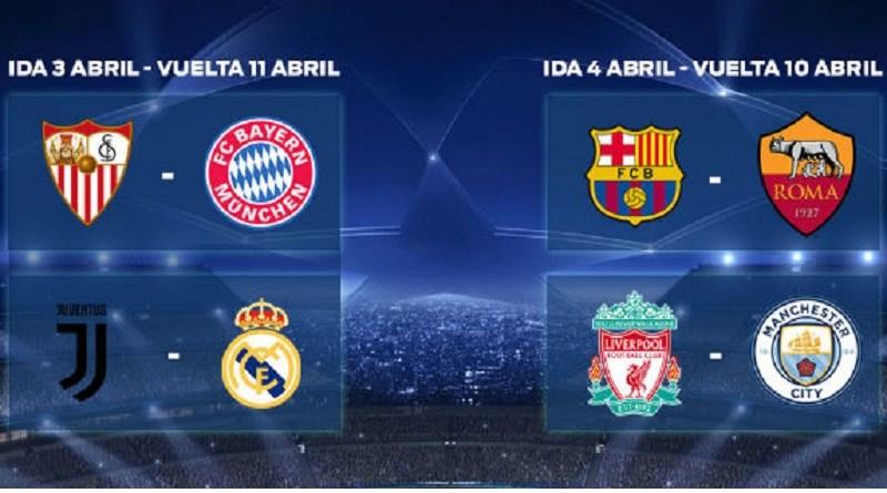 Así queda el Sorteo Champions League, cuartos de final – 0limites