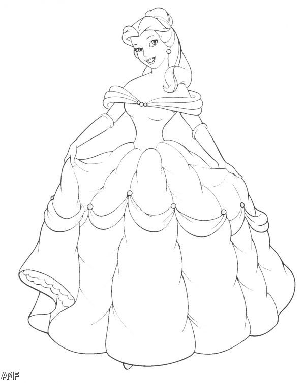 proper fitting for disney princess belle coloring pages against girls
