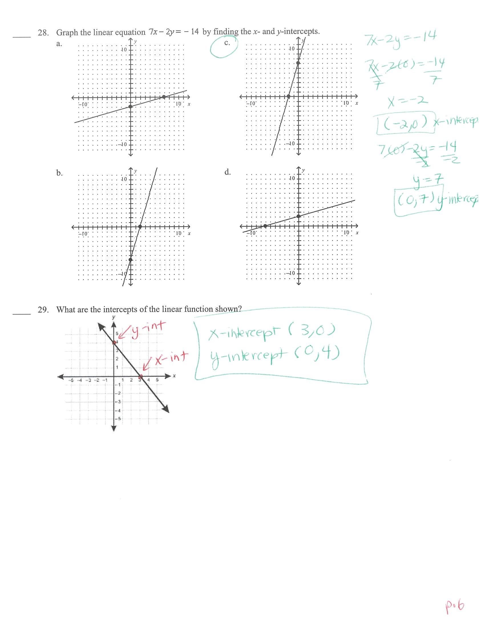 Writing Linear Equations Module Quiz B