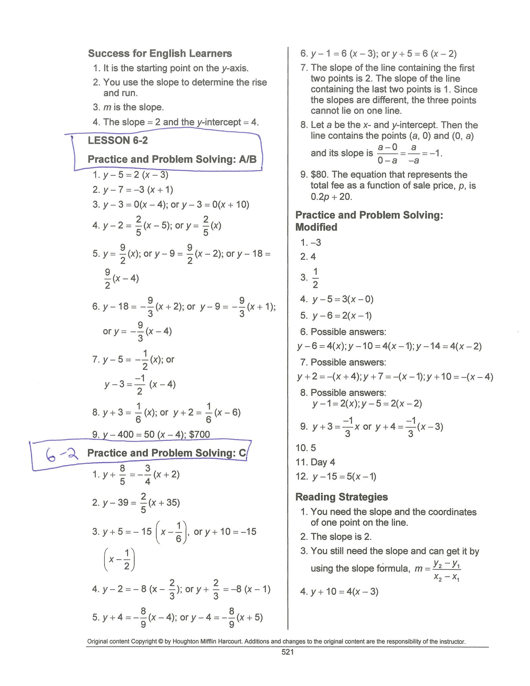 Lesson 1 7 Practice B Solving Absolute Value Equations