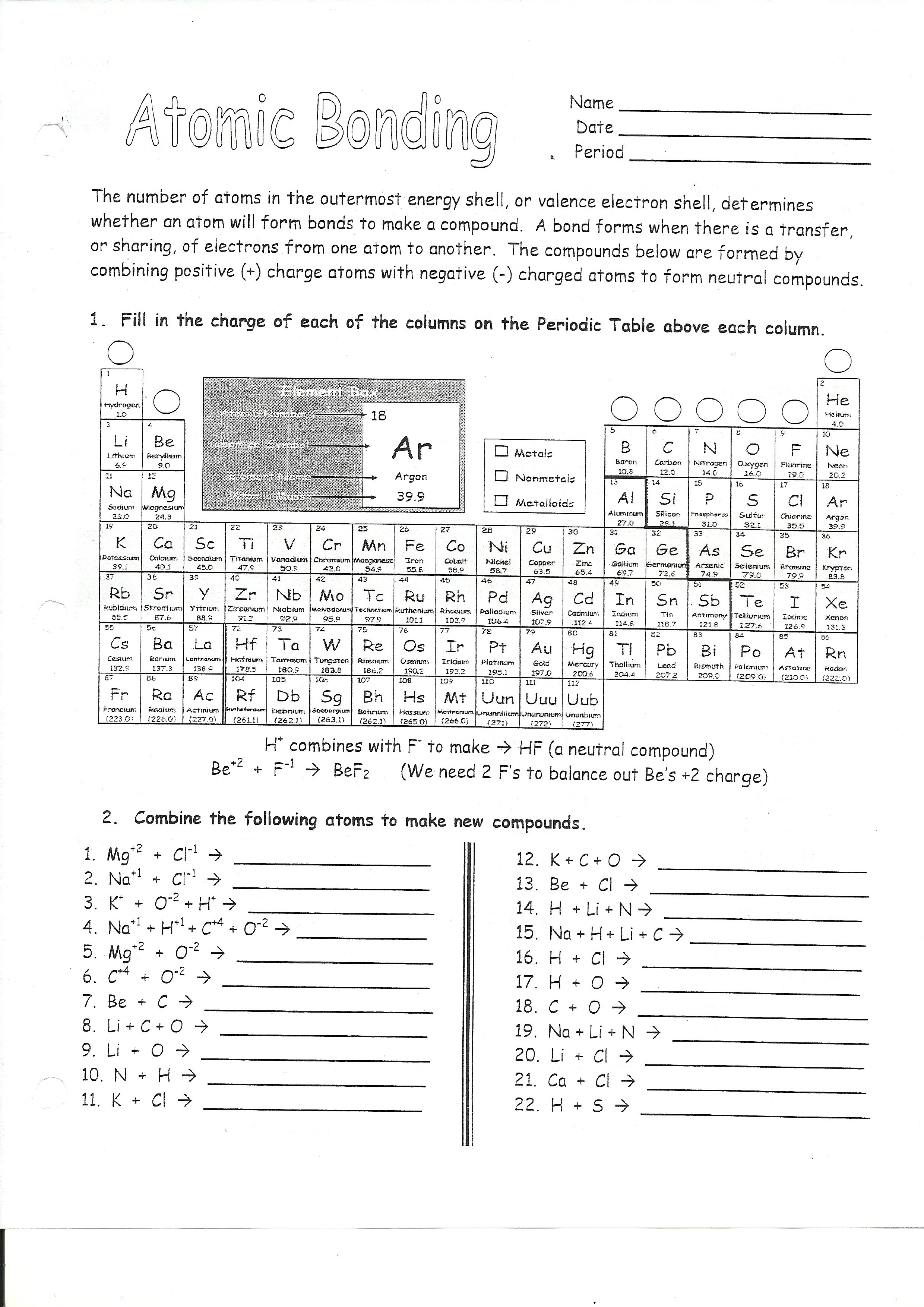 Electron Configuration Practice Worksheet Doc