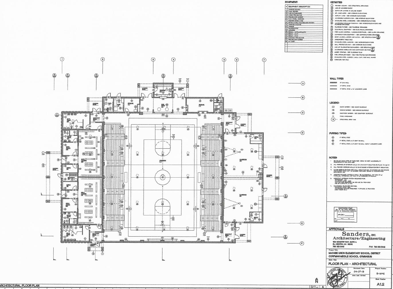 Diagram Of A Gymnasium Floor