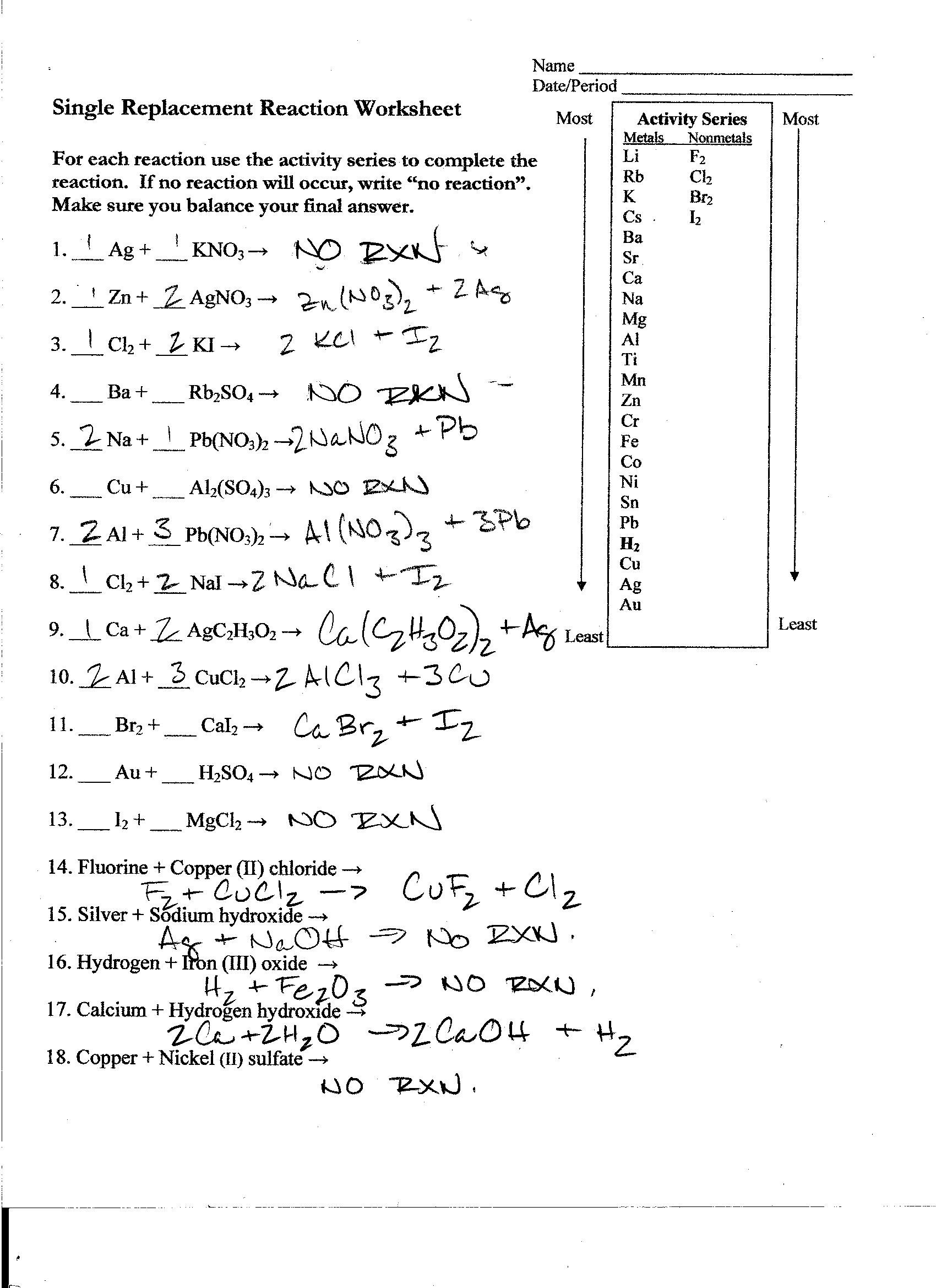 Solubility Curves Graph Worksheet Answer Key