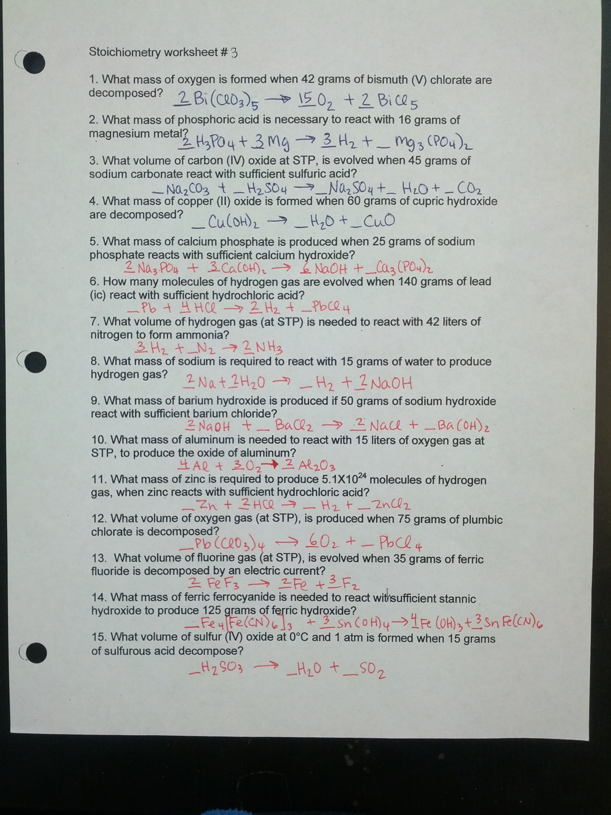 Intermolecular Forces Worksheet Doc