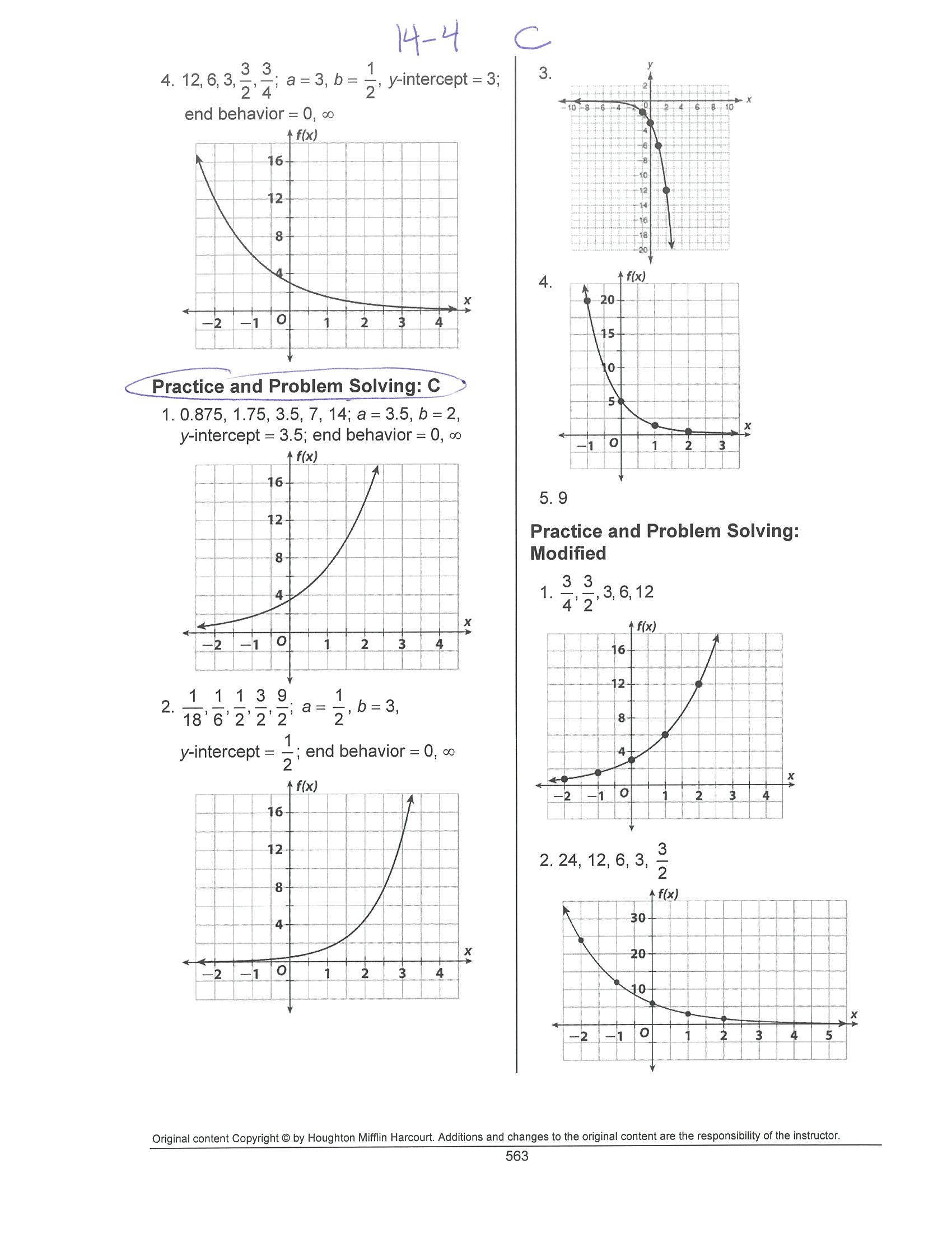 Lesson 9 5 Practice B Solving Quadratic Equations By Graphing