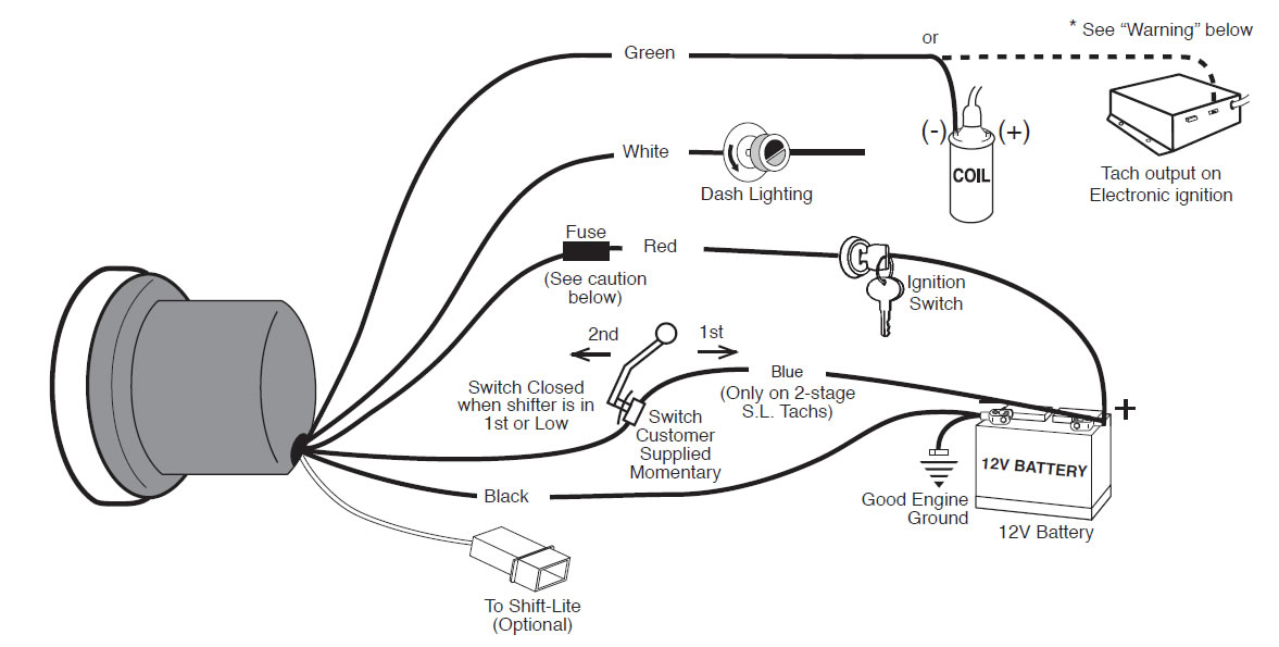 guide 13500 01?resize=665%2C336 how to install an auto meter pro comp ultra lite voltmeter gauge autometer water temp gauge wiring diagram at mr168.co