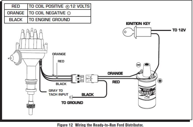 schema msd ford ready to run distributor wiring diagram