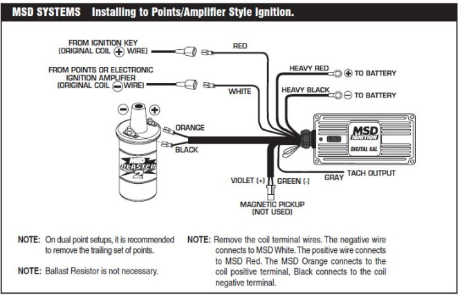 msd 6a wiring diagram wiring diagram wiring the msd ignition system infinitybox msd 6al 2 wiring diagram