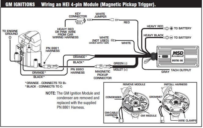 msd hei distributor wiring diagram wiring diagram gm hei ignition wiring diagram diagrams