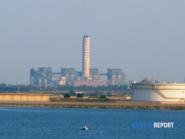 The Cerano plant overlooking Brindisi