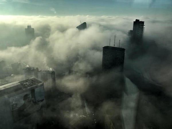 Nebbia nuvole grattacieli di Paolo Guido Bassi 2