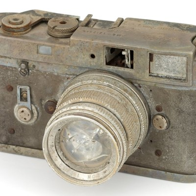 Fire-damaged and unusable Leica M4 and Summicron lens sells for around $2,000