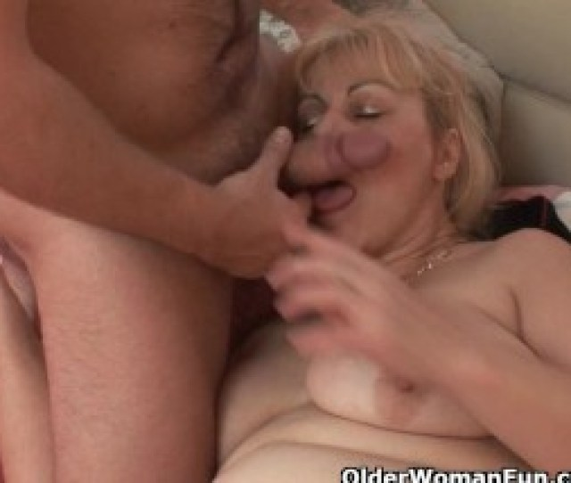 Chubby Grandmother Gets Chisel Up Her Ass