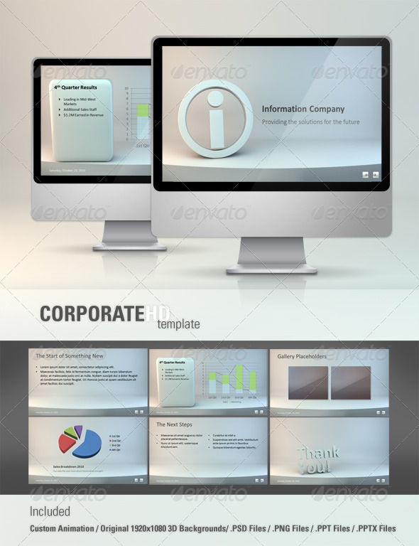 Corporate HD Powerpoint Template - GraphicRiver Item for Sale