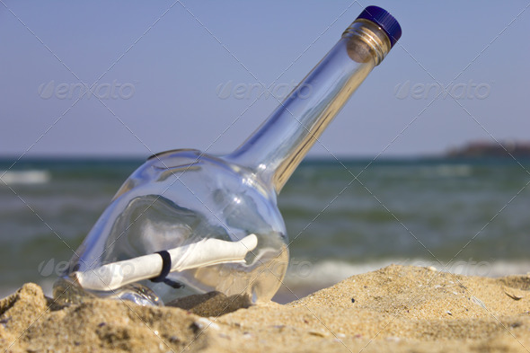Image result for picture of message in a bottle on the beach